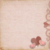Happy Valentines Day. Vintage background Stock Images