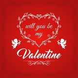 Happy Valentines Day Vintage Card3 Royalty Free Stock Photo