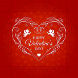 Happy Valentines Day Vintage Card Stock Images