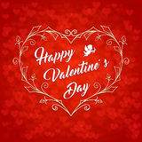 Happy Valentines Day Vintage Card2 Stock Photos