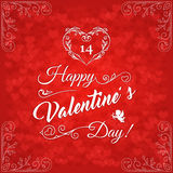 Happy Valentines Day Vintage Card4 Royalty Free Stock Photos