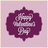 Happy Valentines Day. Vintage Card Stock Photos