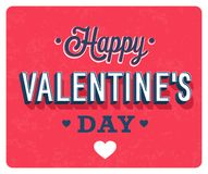 Happy Valentines Day vintage greeting card. Royalty Free Stock Image