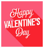 Happy Valentines Day vintage greeting card. Royalty Free Stock Images