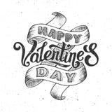 Happy valentines day vintage poster Stock Photos
