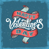 Happy valentines day vintage poster Royalty Free Stock Photo