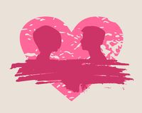 Happy valentines day and wedding design elements. Shattered heart Stock Photography