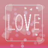 Happy valentines day and wedding design elements. Vector illustration invitation Stock Images