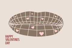 Happy valentines day and wedding design elements. Stock Photo