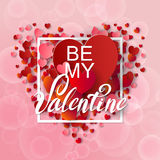 Happy valentines day and weeding background Stock Images