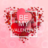 Happy valentines day and weeding background Stock Photography