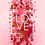 Happy valentines day and weeding background Stock Photo