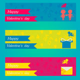 Happy valentines day and weeding banners. greeting cards Stock Images