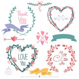 Happy valentines day and weeding card. Happy valentines day and weeding card vector illustration