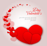 Happy valentines day and weeding cards Stock Photos