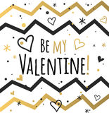 Happy valentines day and weeding cards design Stock Image