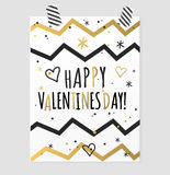 Happy valentines day and weeding cards design Stock Photography