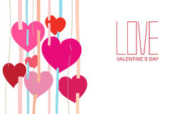 Happy valentines day. And weeding cards, Vector Illustration Stock Image