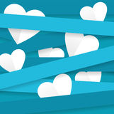 Happy Valentines Day White Heart And Blue Royalty Free Stock Photo