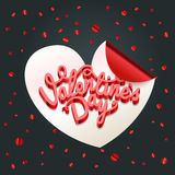 Happy valentines day wishes greeting card layout Royalty Free Stock Image