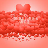 Happy valentines day wishes greeting card. Valentines vector lab Royalty Free Stock Photo