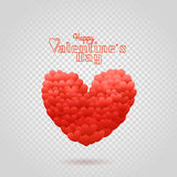 Happy valentines day wishes greeting card Stock Photography