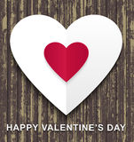 Happy Valentines Day wood background Royalty Free Stock Images