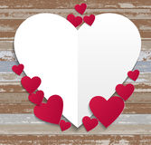Happy Valentines Day wood background Royalty Free Stock Photo