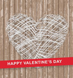 Happy Valentines Day wood background Stock Image
