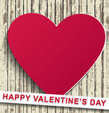 Happy Valentines Day wood background Stock Photography