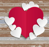 Happy Valentines Day wood background Stock Photos