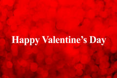 Happy Valentines day word and heart shape on red bokeh light bac Stock Photography