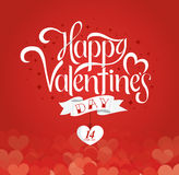 Happy Valentines Days lettering Royalty Free Stock Photos