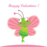 Happy valentines happy butterfly Stock Photos