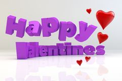 Happy Valentines hearts Royalty Free Stock Photography