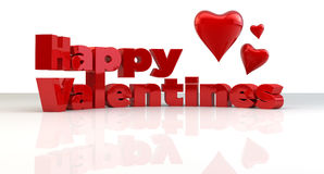 Happy Valentines hearts Royalty Free Stock Images
