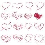 Happy valentines hearts set Royalty Free Stock Photo