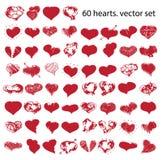 Happy valentines hearts set Royalty Free Stock Photos