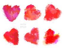 Happy valentines hearts set Royalty Free Stock Photography