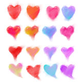 Happy valentines hearts set Stock Photo