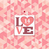 Happy valentines pink geometric greeting cards Royalty Free Stock Photography