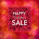 Happy Valentines Sale poster design Royalty Free Stock Image