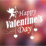 Happy Valentines Typography Background Royalty Free Stock Photography
