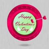 Happy Valentines. Valentine's card or background  - Illustration Stock Images