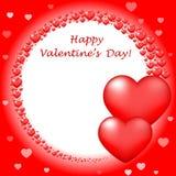 Happy Valentins Day card stock illustration