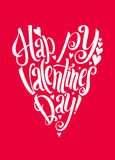 Happy Valentins Day lettering background Stock Photography