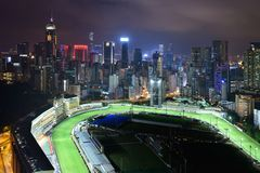 Happy Valley night view Royalty Free Stock Photos