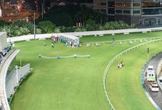 Happy Valley Racecourse in Hong Kong stock photo