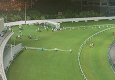 Happy Valley Racecourse in Hong Kong stock image