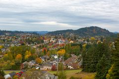 Happy Valley Residential Neighborhood by Mount Talbert royalty free stock images